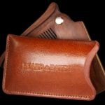 beard comb pouch leather genuine