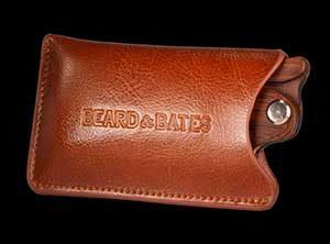 beard comb pouch leather sandalwood genuine