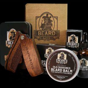 beard kit comb oil bates luxury premium
